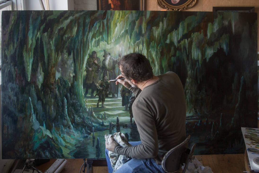 The Fellowship in Moria progress by DonatoArts