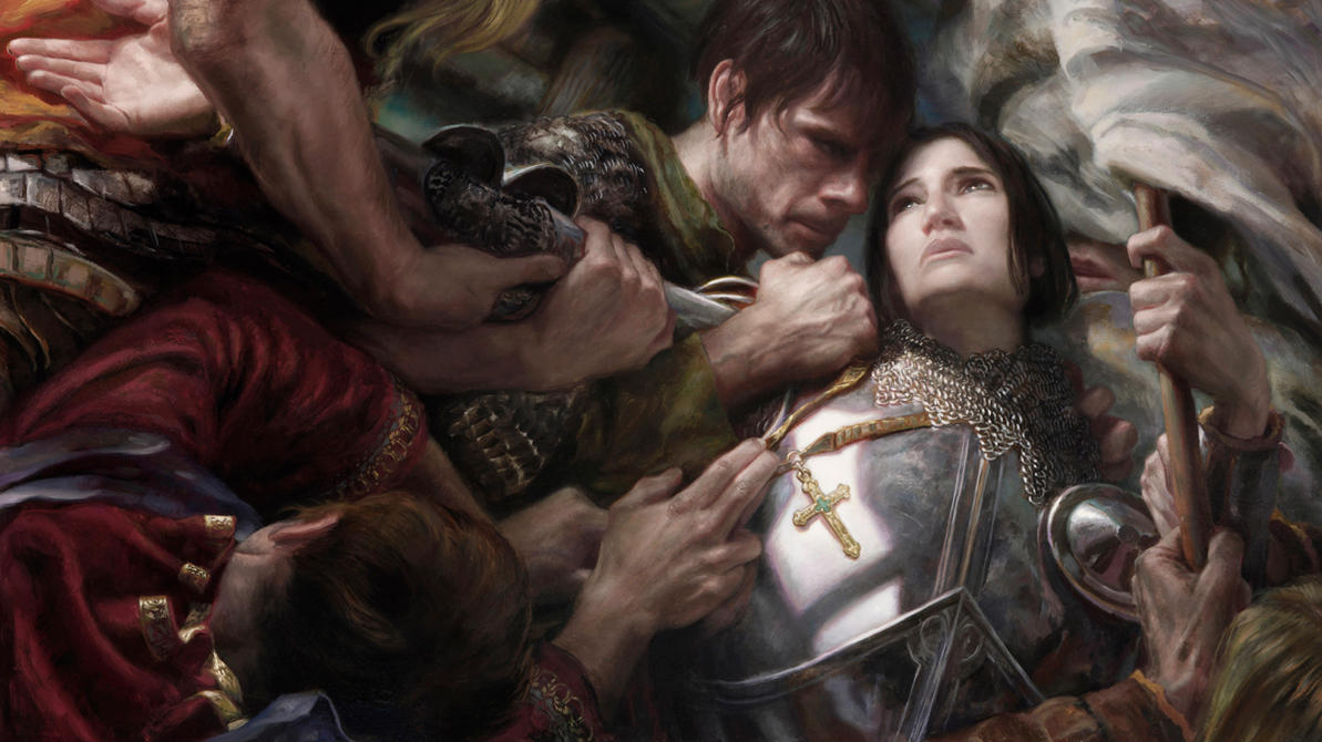 Painting Joan of Arc by DonatoArts