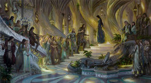 Beren and Luthien in the Court of Thingol + Melian