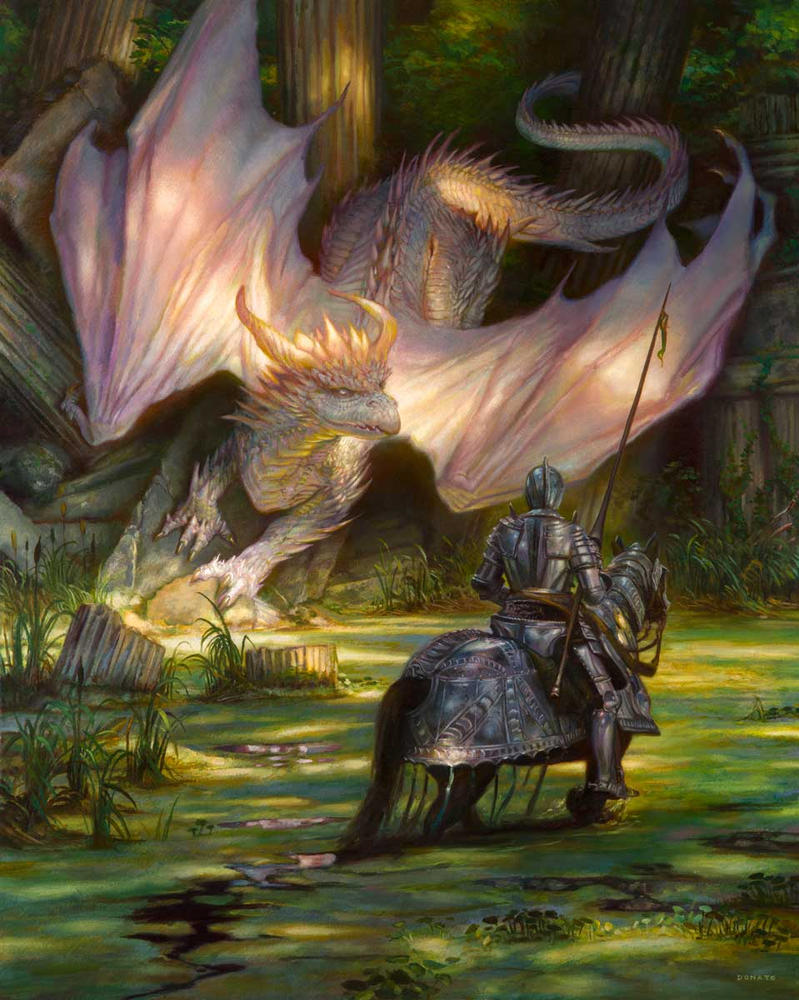 St George And The White Dragon By Donatoarts On Deviantart