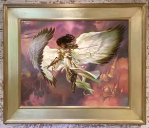 Serra Angel - Magic: The Gathering - Dominaria set by DonatoArts