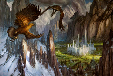 Huor and Hurin Approaching Gondolin by DonatoArts