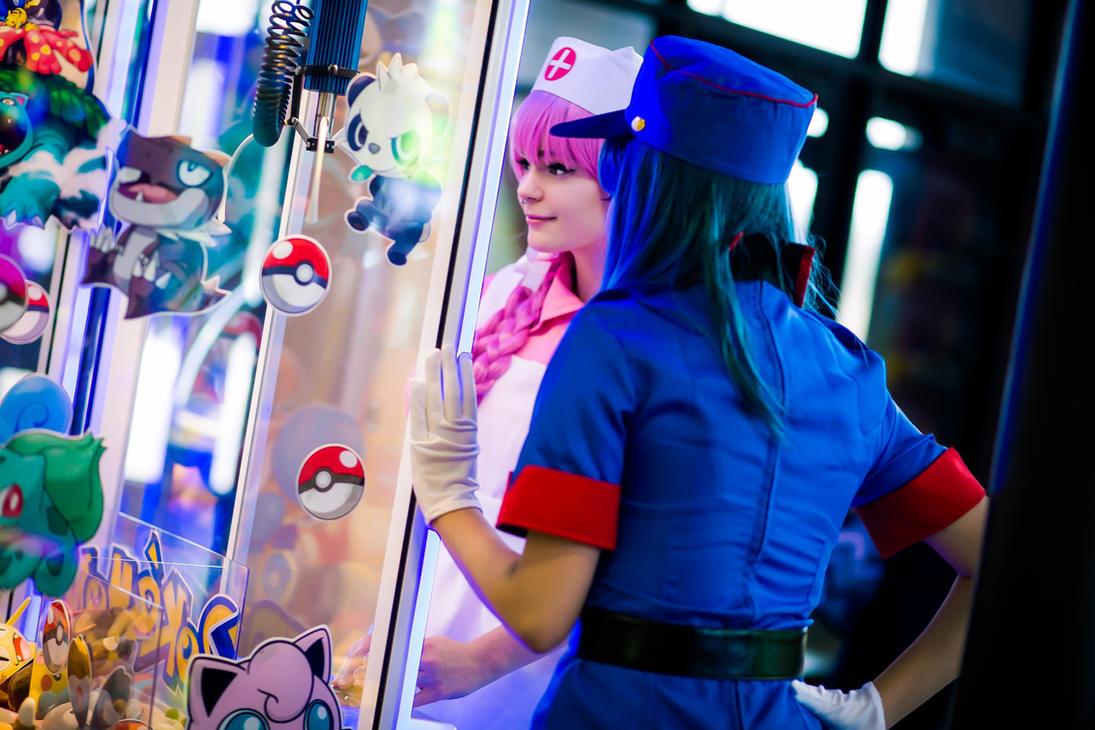 Nurse Joy vs. Officer Jenny by EarWaxKid on DeviantArt