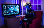 The Latex Drone Becomes a Gamer by Arctic--Revolution