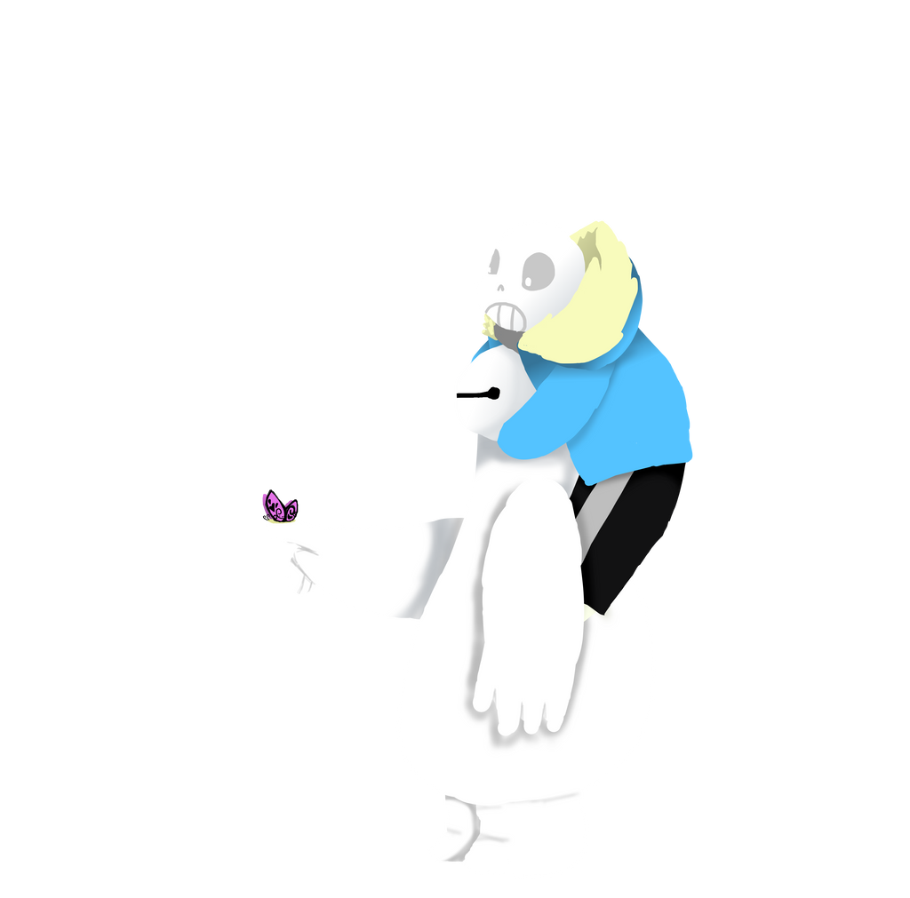 Baymax and Sans by TropicaIDeer