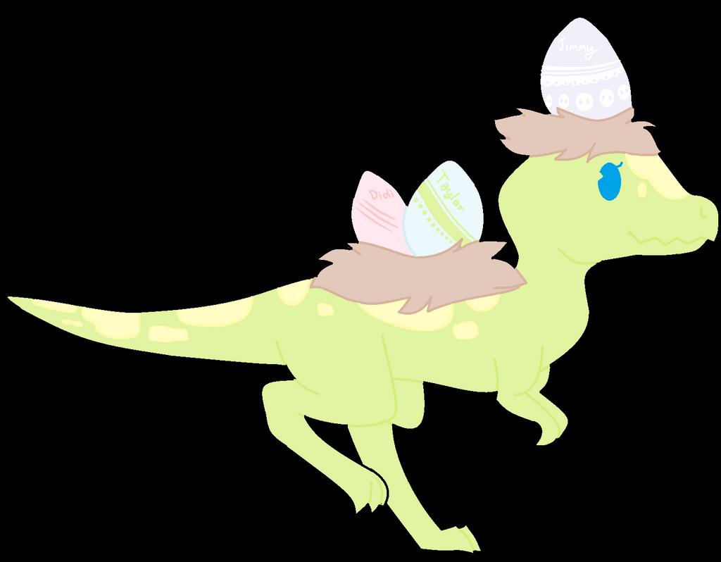 Easter Dino by TropicaIDeer