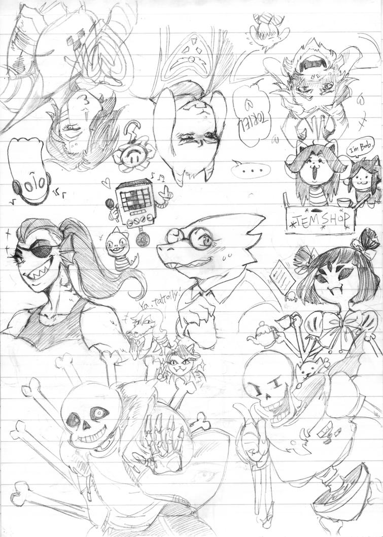 UNDERTALE Sketch 01 by blackteakimi