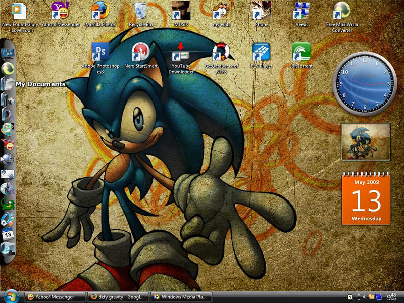 My Sonic Vista Desktop by alekzis