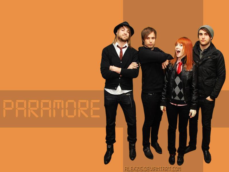 wallpaper paramore. Orange PARAMORE wallpaper by