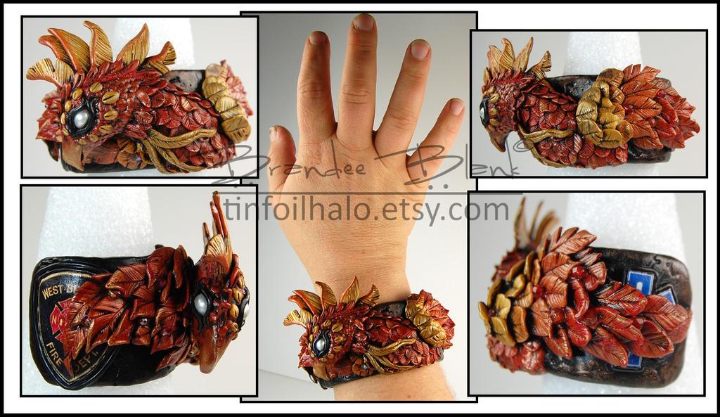 Phoenix Cuff Bracelet by TinfoilHalo