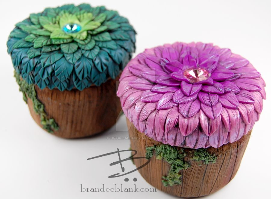 Ombre Wooden Floral Jars by TinfoilHalo