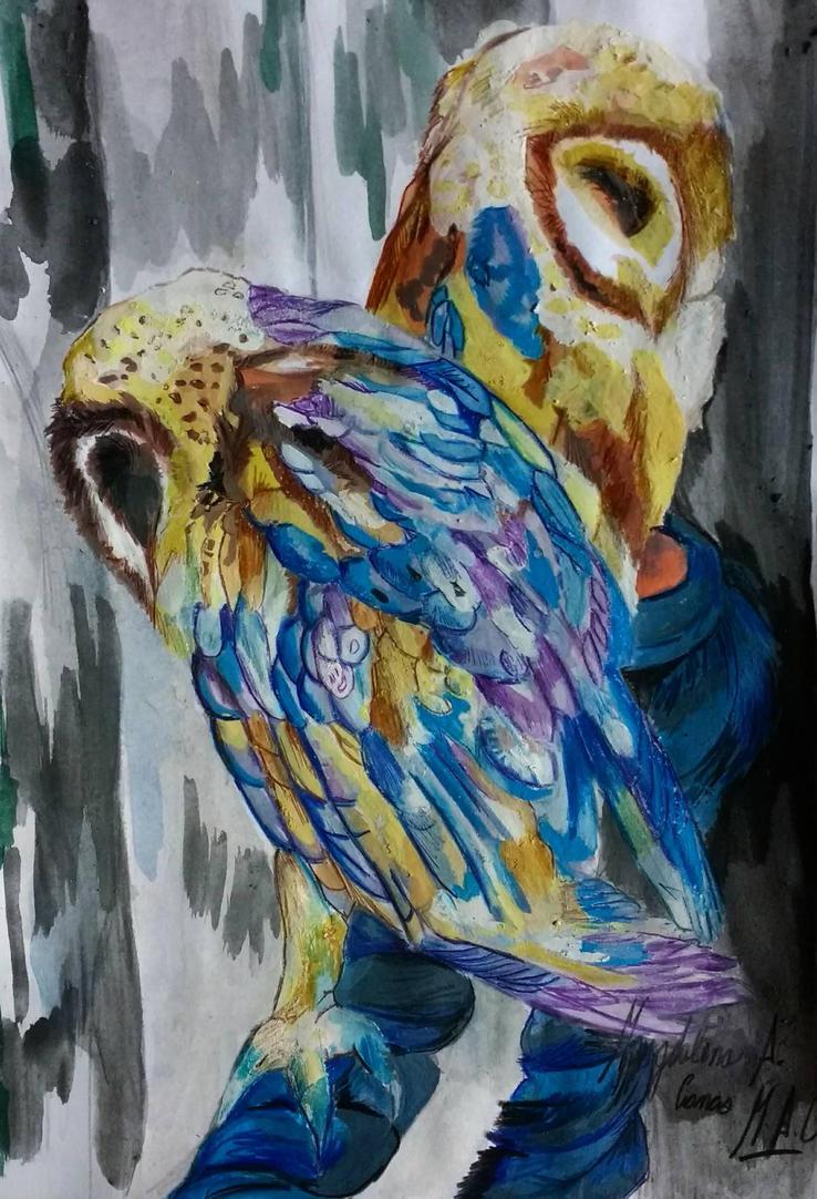Sleeping Owls by DarkStormSeeker