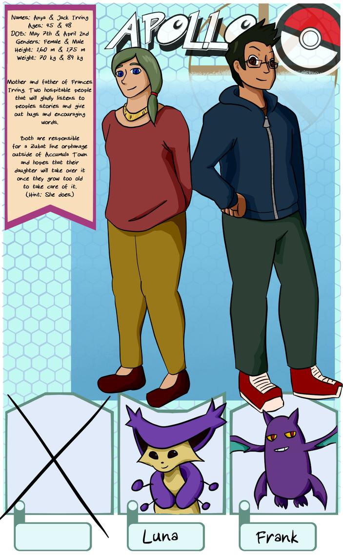 Apollo NPC application: Fran's parents by MrTwinklehead