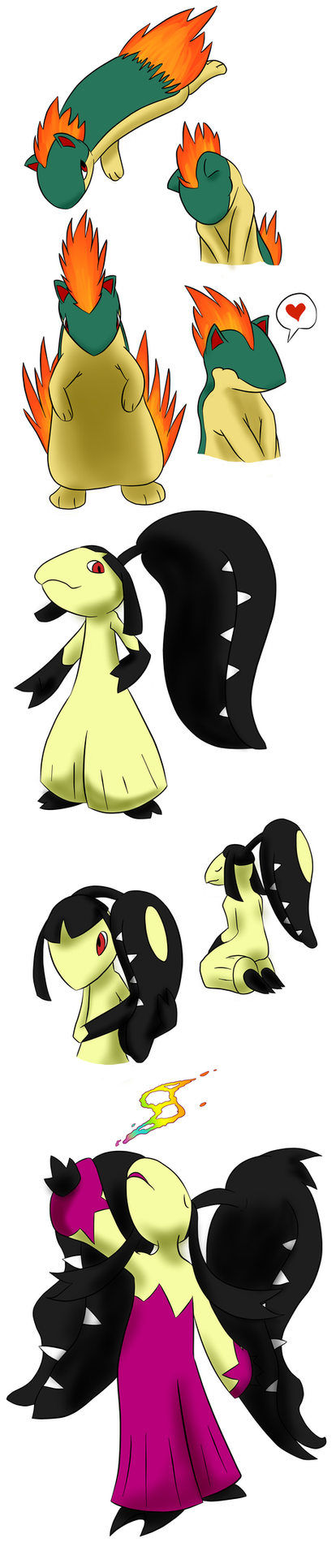 Pokemon Pratice - Quilava Mawile by MrTwinklehead