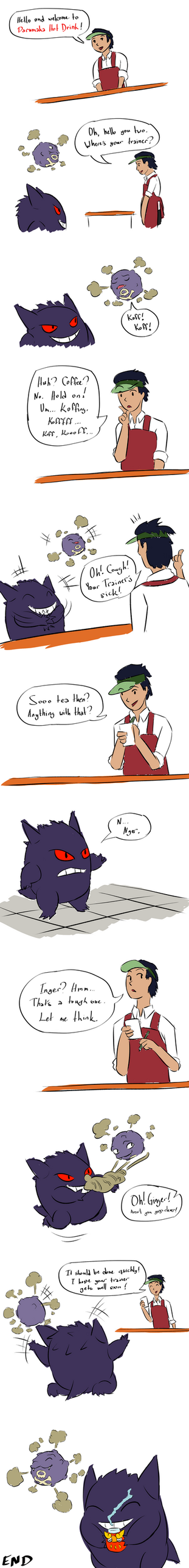 Gengar and Koffing gets some tea by MrTwinklehead