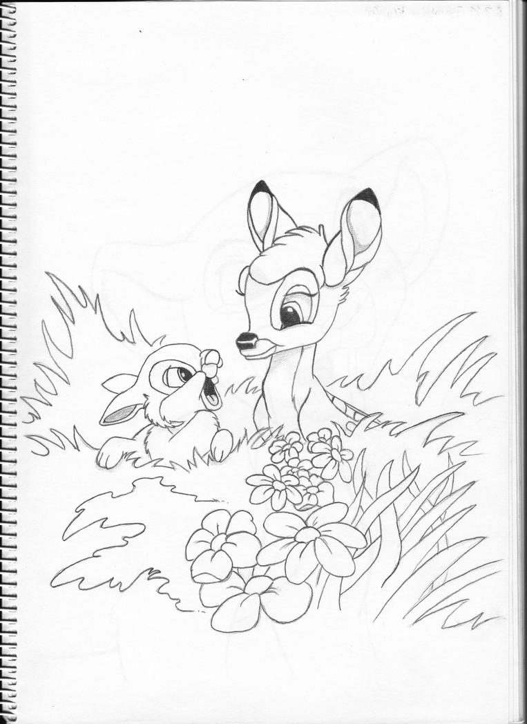 Bambi and Thumper by Pepples93