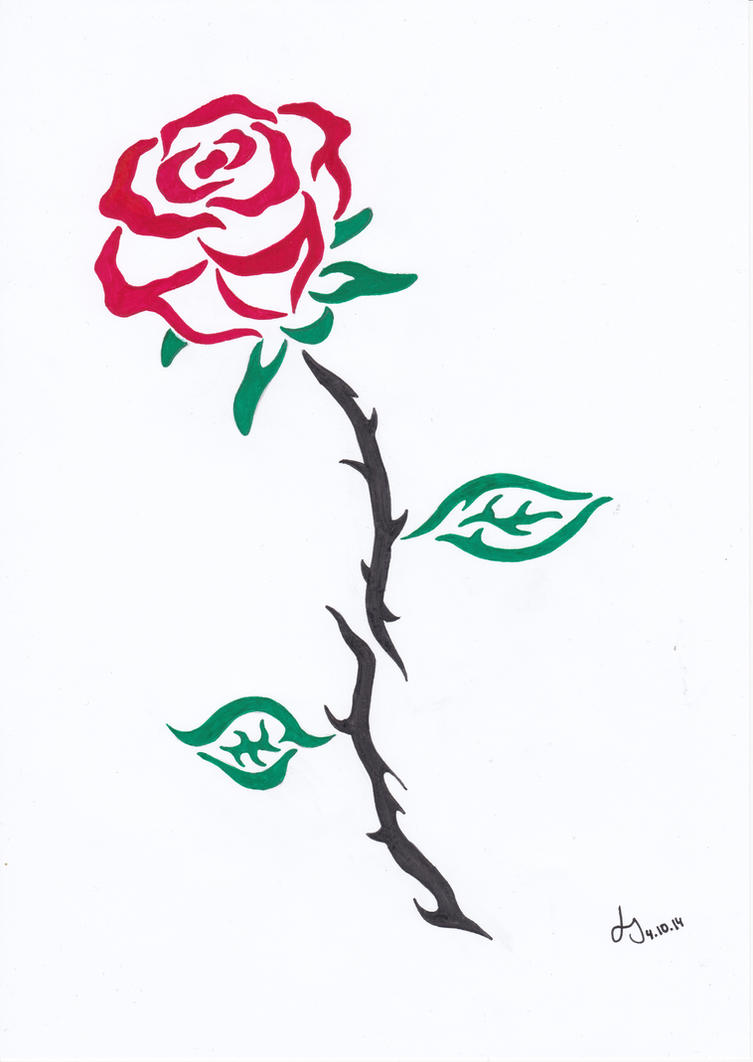 Rose Tribal by Pepples93
