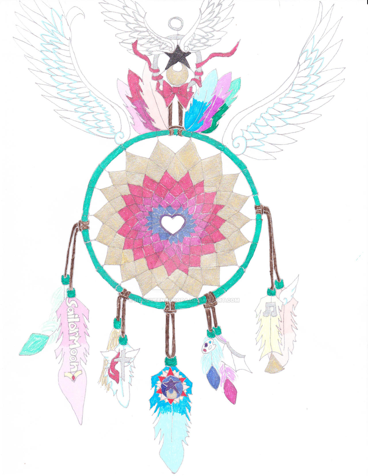 Dream Catcher Tumblr Backgrounds Dream Catcher Colored again by NeoQueenAurora on DeviantArt 34