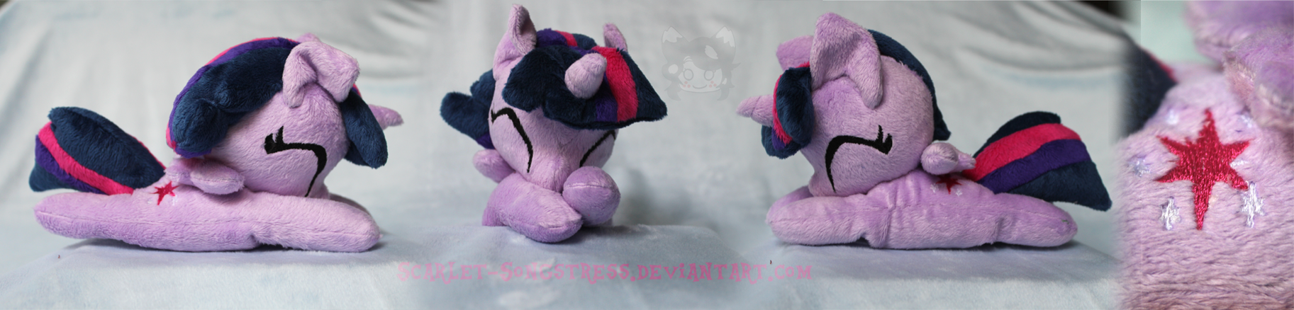 Commission: Chibi Smiling Alicorn Twilight Sparkle by Scarlet-Songstress