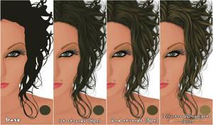 Hair strands tips by demijavil