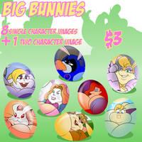 Big Bunnies (Image Set) by TubbyToon