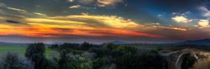 Castle of Vulci, at sunset