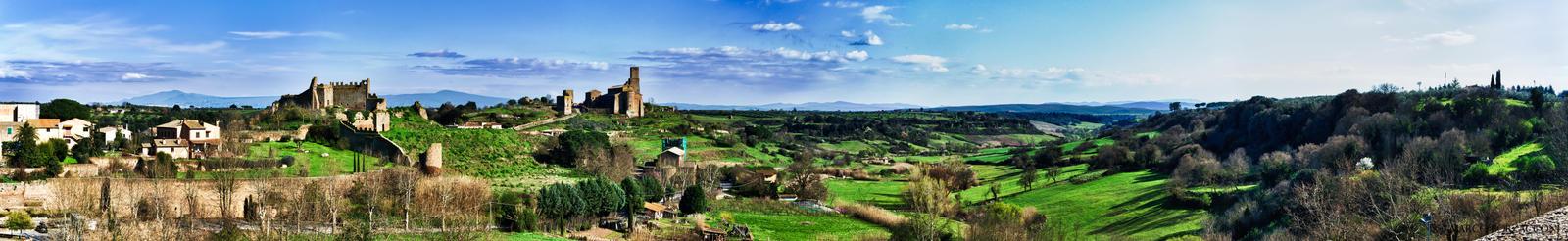 Panorama of Tuscania, full by Tiris76