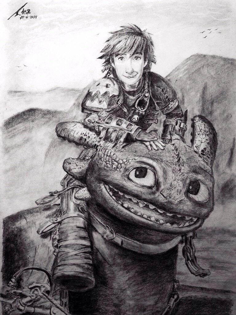 hiccup and toothless by xia95 on deviantart