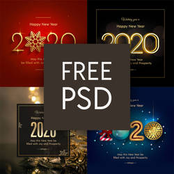 Happy New Year 2020 - Free PSD Download