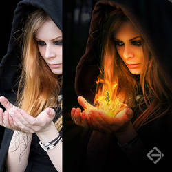 Photo Manipulation - Fire in Hand