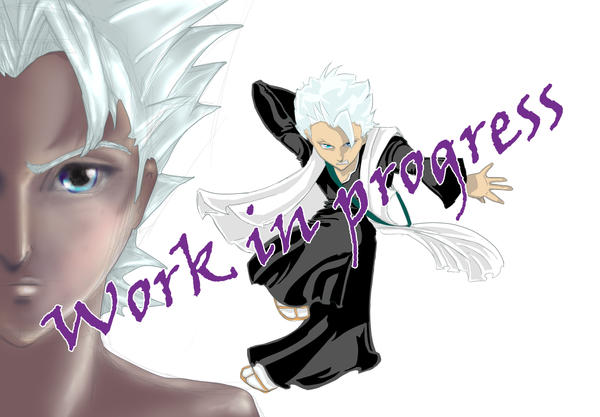 hitsugaya wallpaper. Hitsugaya wallpaper WIP by ~UDeeN on deviantART