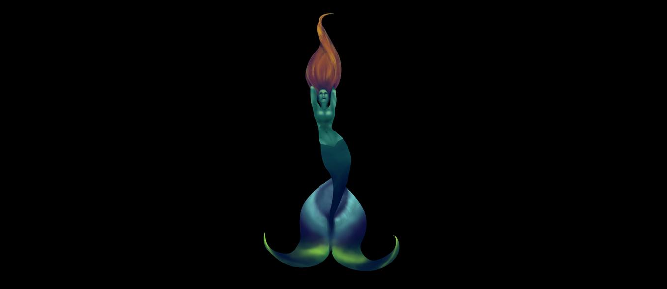 Multicolor Mermaid Remake by UDeeN