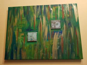 Acrylic painting green