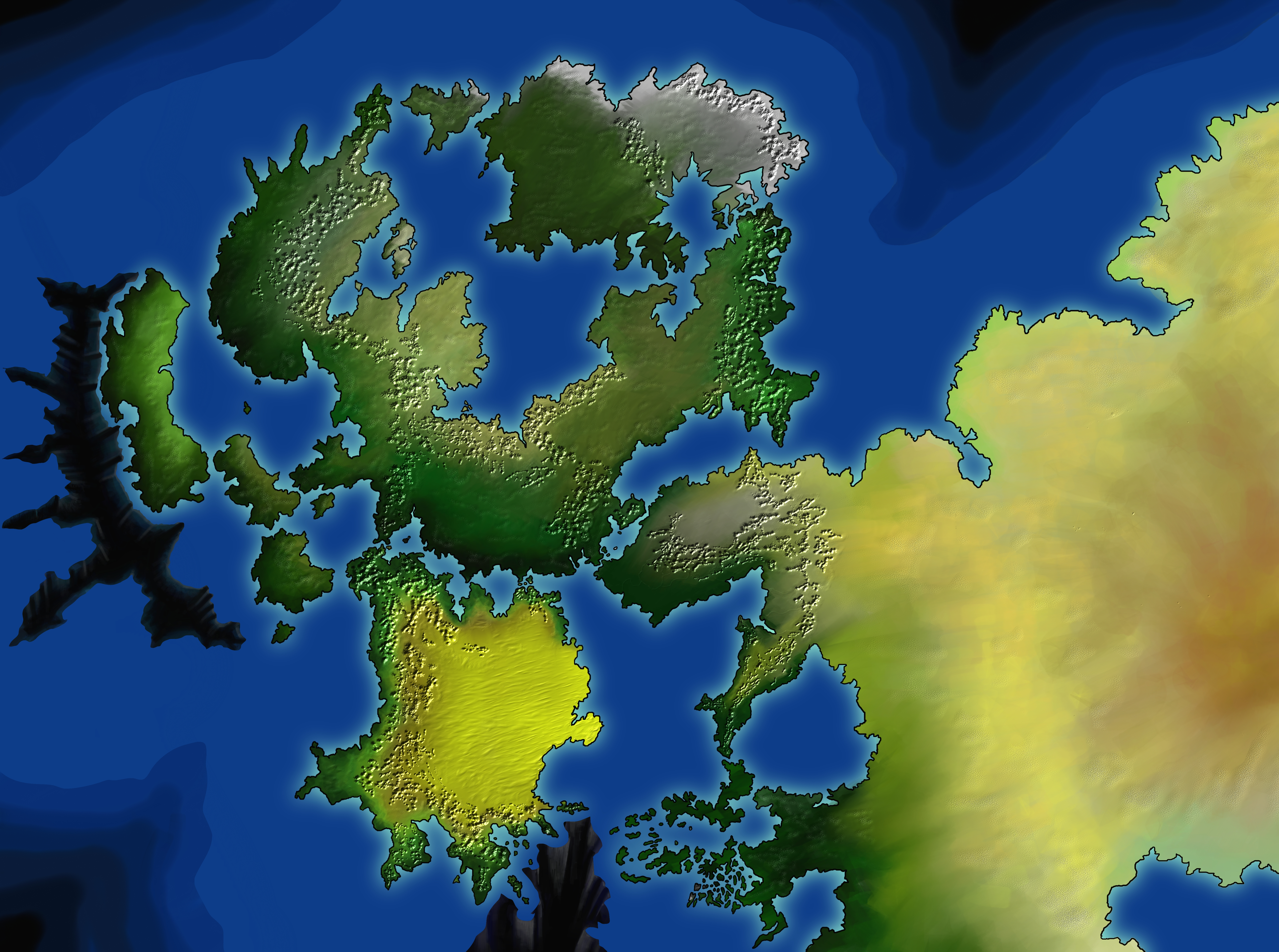Fantasy world map by HendelMasad on DeviantArt