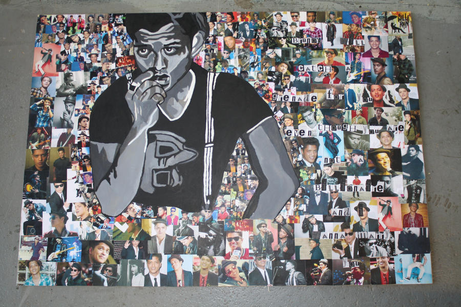 2nd BrunoMars Collage. By Iistel On DeviantArt