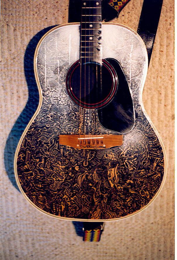 acoustic guitar painting by marion c on deviantart. Black Bedroom Furniture Sets. Home Design Ideas