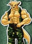 Military Wuffie - Coloured