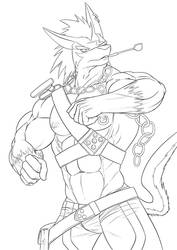 Badass Repede - Ink by ronso