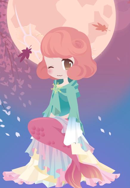 Adopt Trade: Pink Mermaid by kakitis1102