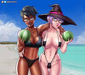 Bikini witches by Pablocomics