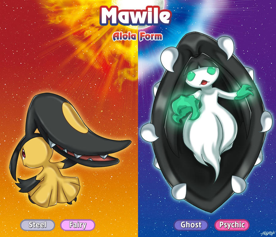 mawile and alola mawile by fenrox on deviantart