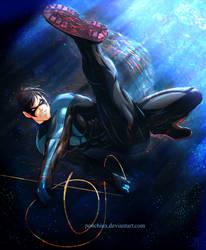 Nightwing by Ponchiux
