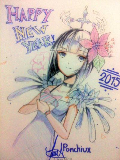 New Year Sketch by Ponchiux