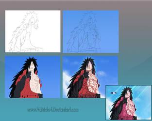 Madara Step by Step Tutorial by valvicto4