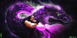 HUN and the Purple Dragon - TMNT fan art