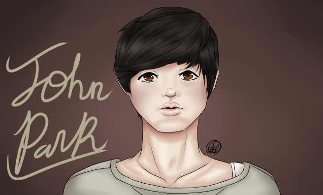 I tried to draw John Park but nAH. by HomuGay