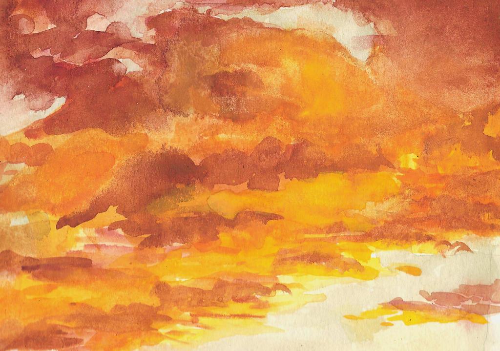 Orange sky by chocoblanc
