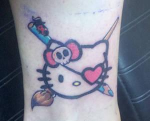 Hello Kitty Pirate tattoo