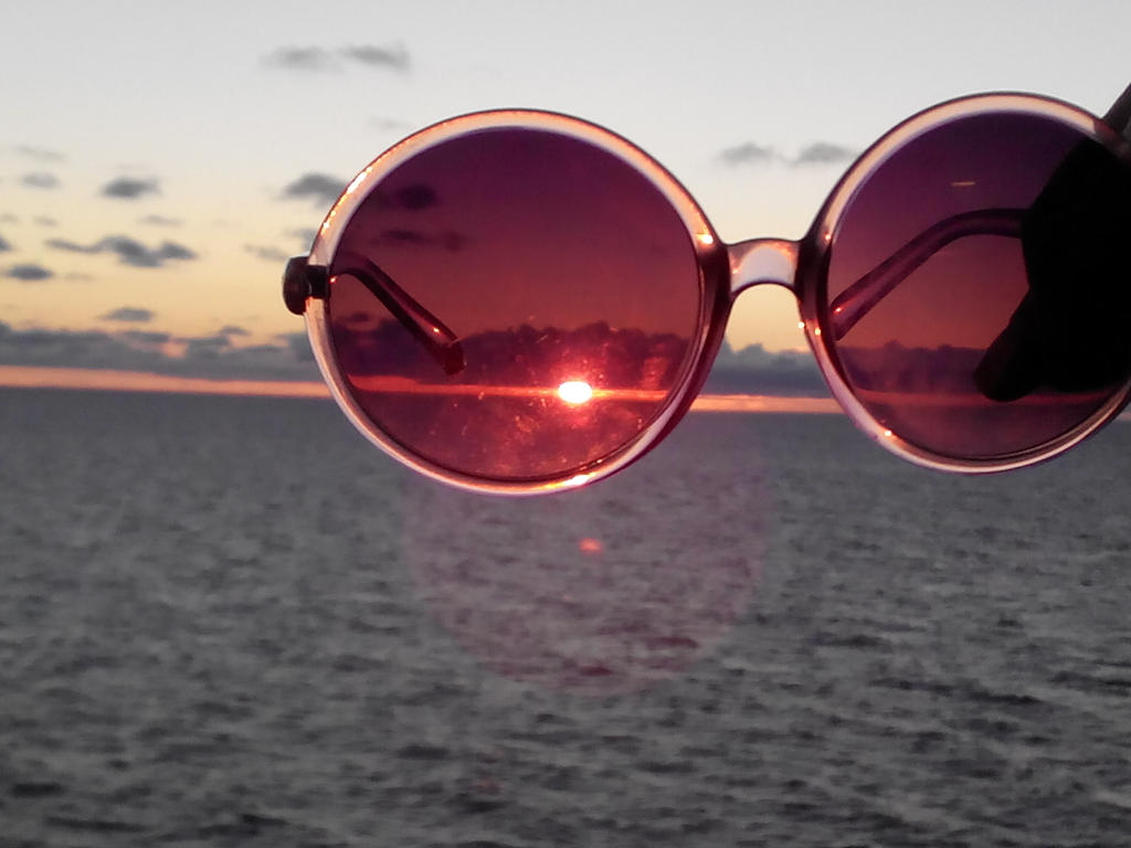 Image result for rose colored glasses