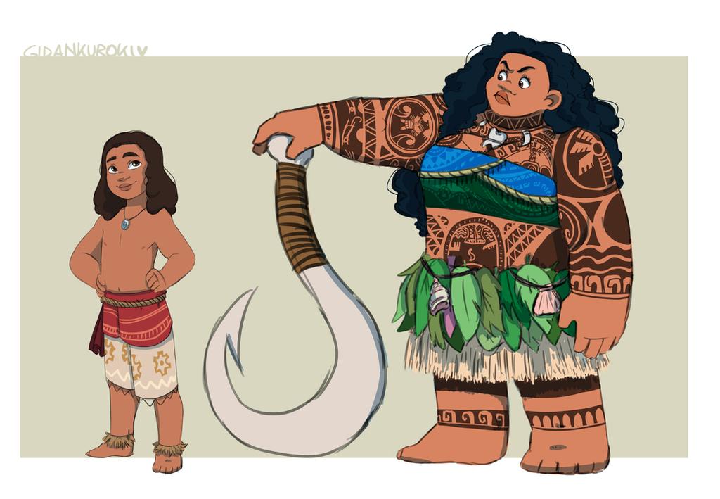 Moana And Maui Genderbender By Gidan Kuroki On Deviantart